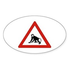 Watch Out For Monkeys, Saudi Arabia Oval Decal