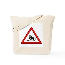 Watch Out For Monkeys, Saudi Arabia Tote Bag