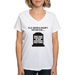 Never Die Women's V-Neck T-Shirt