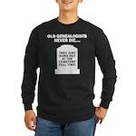 Never Die Long Sleeve Dark T-Shirt