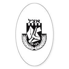 Irgun logo Oval Bumper Stickers