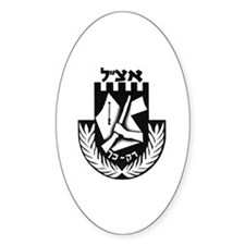 Irgun logo Oval Decal