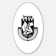 Irgun logo Oval Decal