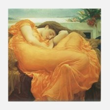 Flaming June by Leighton Tile Coaster