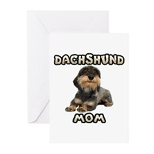 Wirehaired Dachshund Mom Greeting Cards (Pk of 20)