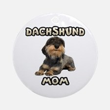 Wirehaired Dachshund Mom Ornament (Round)