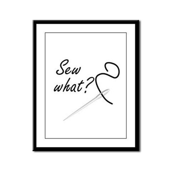 Sew what? Framed Panel Print