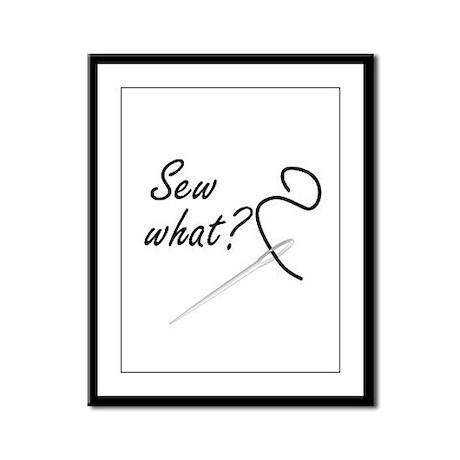 Sew what? Framed Panel Print