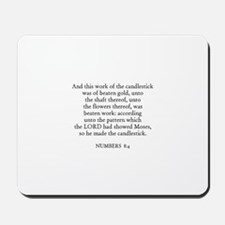 NUMBERS  8:4 Mousepad