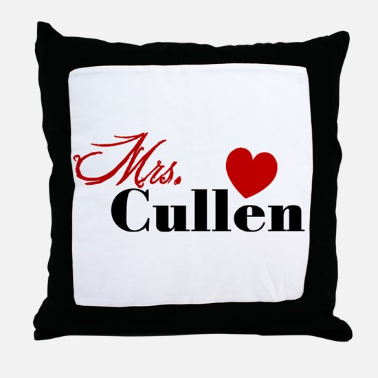 Twilight Mrs. Cullen Throw Pillow