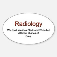Radiology Oval Decal