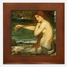 Mermaid by JW Waterhouse Framed Tile