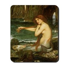 Mermaid by JW Waterhouse Mousepad