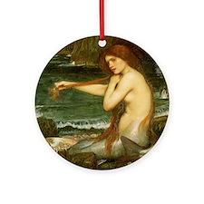 Mermaid by JW Waterhouse Ornament (Round)