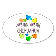 Chihuahua Oval Decal