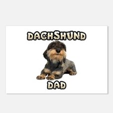 Wirehaired Dachshund Dad Postcards (Package of 8)
