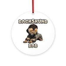 Wirehaired Dachshund Dad Ornament (Round)