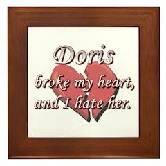 Doris broke my heart and I hate her Framed Tile