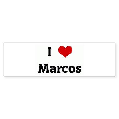 I Love Marcos Bumper Sticker