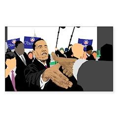 President Obama Rectangle Sticker 50 pk)