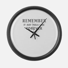 REMEMBER it just feels... Large Wall Clock