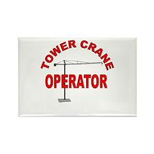 Funny Crane operator Rectangle Magnet
