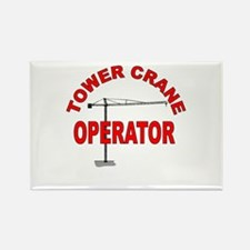 Cute Crane operator Rectangle Magnet