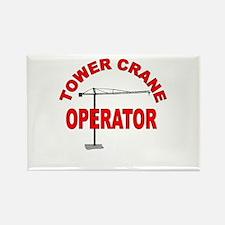 Unique Crane operator Rectangle Magnet