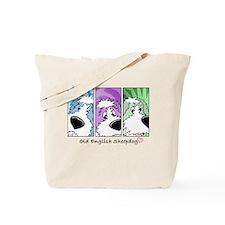 Old English Sheepdog Strips Tote Bag