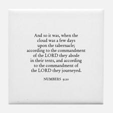 NUMBERS  9:20 Tile Coaster