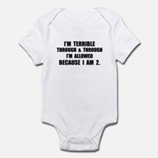 Terrible Two-Year-Old Infant Bodysuit
