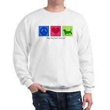 Peace Love Basset Sweatshirt