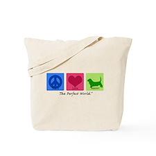 Peace Love Basset Tote Bag