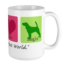 Peace Love Beagle Mug