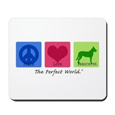 Peace Love Beauceron Mousepad