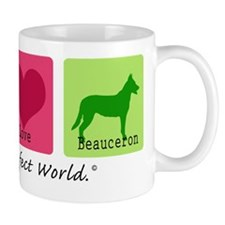 Peace Love Beauceron Mug
