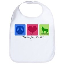 Peace Love Malinois Bib