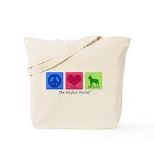 Peace Love Malinois Tote Bag