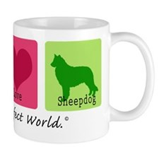 Peace Love Sheepdog Mug