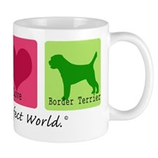 Peace Love Border Terrier Mug
