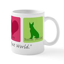 Peace Love Boston Terrier Mug