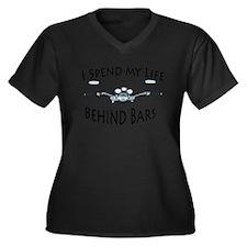 I Live My Life Behind Bars Women's Plus Size V-Nec