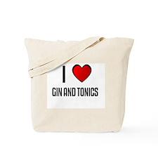 I LOVE GIN AND TONICS Tote Bag