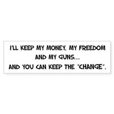 I'll Keep My Freedom Bumper Bumper Sticker