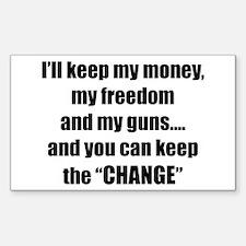 I'll Keep My Freedom Rectangle Decal
