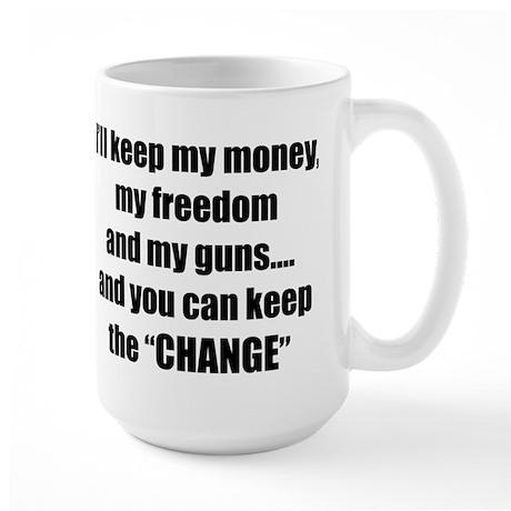 I'll Keep My Freedom Large Mug