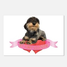 Wirehaired Dachshund Valentine Postcards (Package