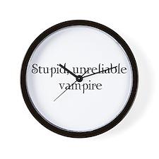 Stupid, unreliable vampire Wall Clock