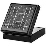 Grey Grid Keepsake Box