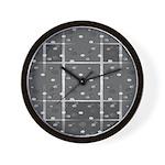 Grey Grid Wall Clock